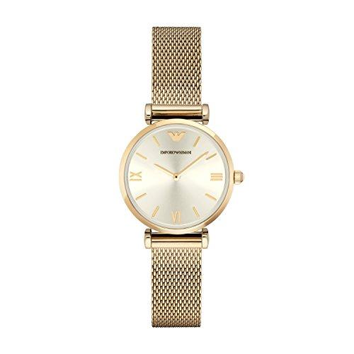 Emporio Armani AR1957 - Reloj de pulsera Mujer, Acero inoxidable, color Oro