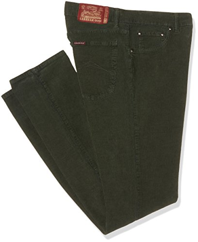 CARRERA 5 Tasche Modello 700 Velluto Stretch 1000R, Vita Regolare, Gamba Regolare, Pantaloni Uomo, 770 Verdone, 52 IT (36W/34L)