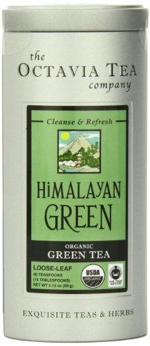 Octavia Tea Himalayan Green (Organic And Fair Trade) Loose Tea , 2.12 Ounce Tins
