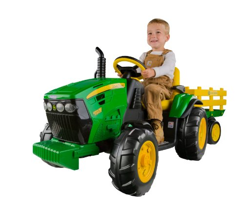 Peg Perego John Deere Ground Force Tractor with Trailer (Kids Power Tools Car compare prices)