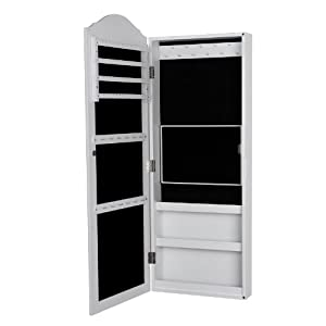 songmics 96 x 35 1 x 9 5 cm armoire bijoux armoire. Black Bedroom Furniture Sets. Home Design Ideas