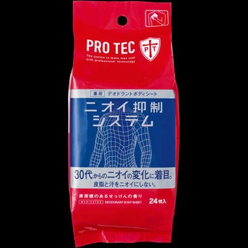 PRO TEC デオドラントボディシート 24枚