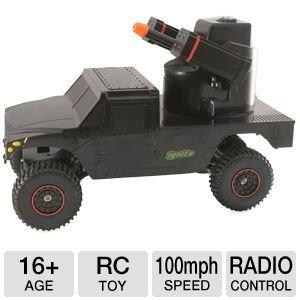 Ignite Radio Control Air Soft Black Justice Dealer 4 Wheel Drive Military Vehicle