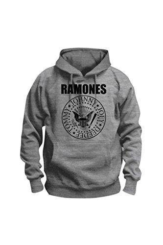 Ramones -  Felpa con cappuccio  - Uomo grigio L