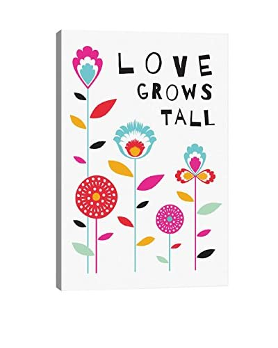 Susan Claire Let Love Grow Tall Gallery Wrapped Canvas Print