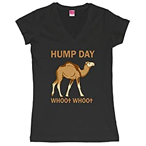 HUMP DAY whoo whoo Juniors V-Neck T-Shirt