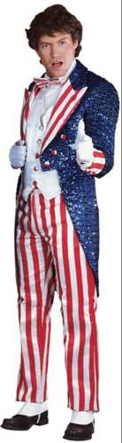 Uncle Sam Sequin Lg Deluxe Adult Mens Costume