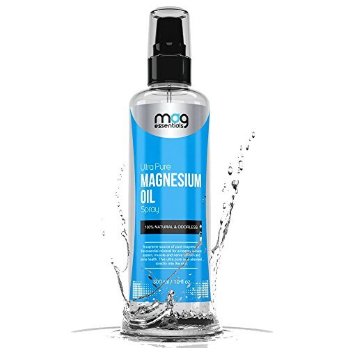 Magnesium Oil Spray - THE ORIGINAL - Natural Relaxation and Pain Reliever. Helps with Sore Muscles, Back, Knee and Foot Pain, Restless Leg Syndrome, Joint and Muscle Pain, Insomnia and Migraine. Say Goodbye to Aches and Pains!