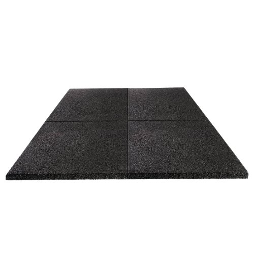 Soft & Safe Rubber Safety Mat Set Play-Protect - 1 sqm - 25mm thick - black