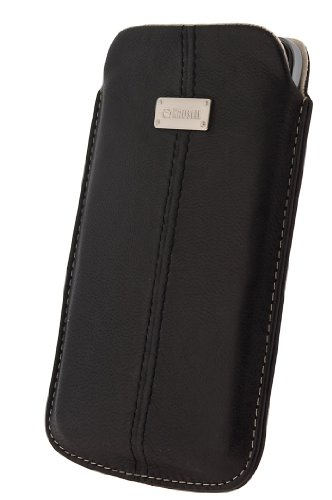Krusell 95343 Luna 4XL Mobile Leather Pouch for Samsung Galaxy Note, Galaxy S Wi-Fi and other Smartphones, 1-Pack (Black)