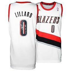 Damian Lillard Portland Trail Blazers Autographed adidas Swingman White Jersey with...