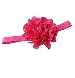 Pikaboo Cut Work Flower baby Headband newborn headband Dark Pink hair accessories