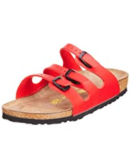 Birkenstock Sandals ''Florida'' from Birko-Flor in Cherry with a regular insole by Birkenstock