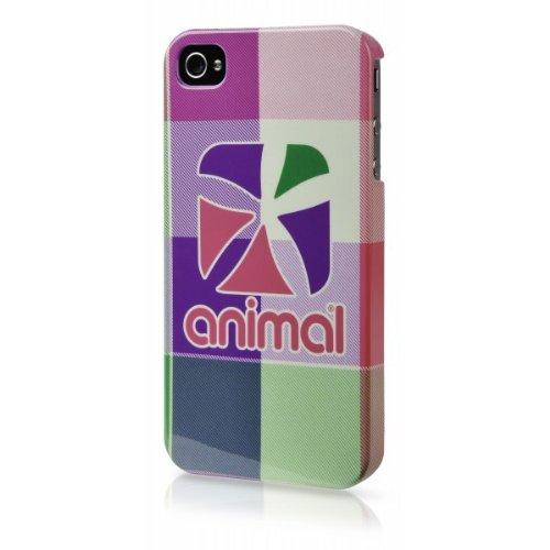 Animal Tech Check Hardshell Case for iPhone 4 - Fluro Pink CD01781-0