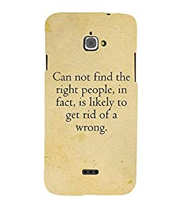 Nice Quote 3D Hard Polycarbonate Designer Back Case Cover for InFocus Bingo 50