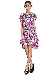 Meiro High Quality Women's peplum Dress (15138_pink_Medium) , designed in New York