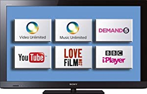Sony KDL40CX523BU 40-inch Widescreen Full HD 1080p LCD Internet Ready TV with Freeview HD