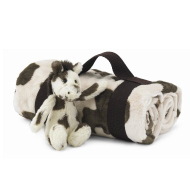 Jellycat Jellykitten Bashful Pony Horse Blanket Travel Set - Plush Stuffed Animals