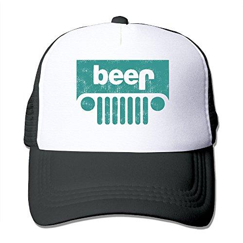 Fashion Unisex Unique Beer Jeep Hiphop Cap