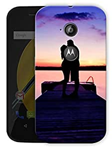 """Couple Love Kiss On Top Printed Designer Mobile Back Cover For """"Motorola Moto E2"""" By Humor Gang (3D, Matte Finish, Premium Quality, Protective Snap On Slim Hard Phone Case, Multi Color)"""
