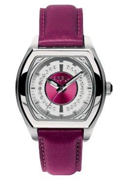 Breil Women's Watch Analogue Quartz TW0565 Purple Leather Strap Purple Dial