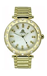 JLO Three-Hand Bracelet - Gold-Tone Women's watch #JL/2712CMGB