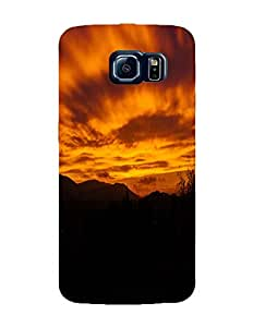 Bagsfull Designer Printed Matte Hard Back Cover Case for Samsung Galaxy S6