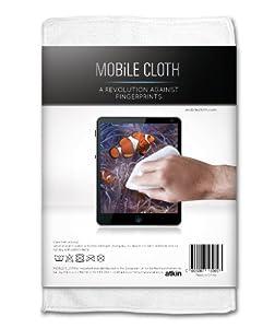 Reinigungstuch MOBiLE CLOTH Nano, 1 Stück (weiß), ca. 10x10 cm, Displaytuch für Smartphones, Tablets, Brillen, Kamera-Objektive und Bildschirme (Brillentuch)