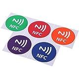 Anself 5pcs Mignon 888bytes NFC Tags Autocollants intelligentes pour Samsung Galaxy S4 S5 Note 3 Note 4 Sony Xperia Nexus 5 NXP NTAG216 Tous les Smartphones NFC