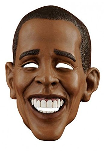 [Popcandy Over The Head Deluxe Barack Obama Vinyl Mask] (Barack Obama Face Mask)