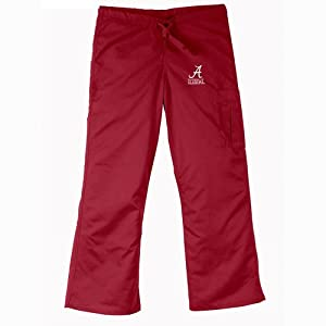 Alabama Crimson Tide NCAA Cargo Style Scrub Pant (Crimson) by Gelscrubs