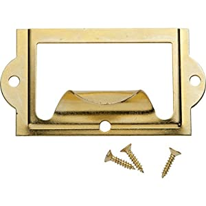 Brass Card Holder with Pull
