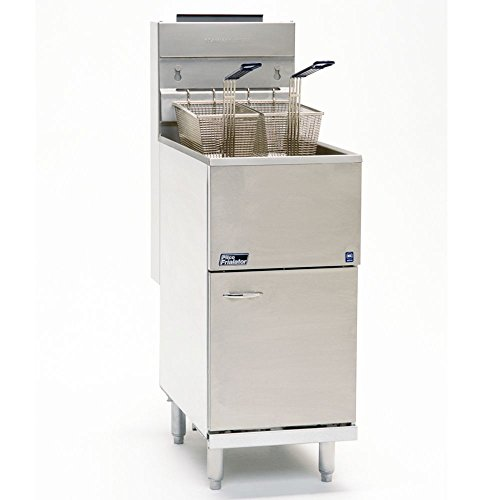 Propane Pitco 45C+S 42-50 lb. Stainless Steel Floor Fryer - 4 Tubes, 122,000 BTU (Pitco Deep Fryer compare prices)