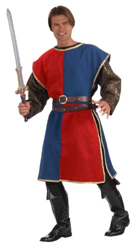 Medieval Red And Blue Tabard Adult Male Costume