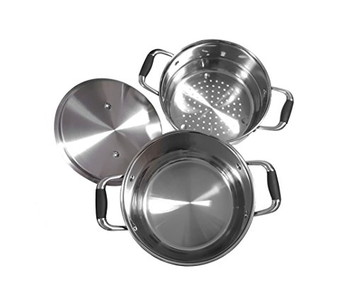 Chéri d'amour 10 Count Top Rated Stainless Steel, Copper Base, Nonstick Cookware Set
