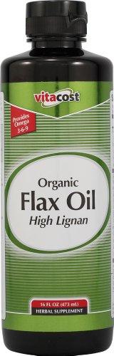 Vitacost Organic High Lignan Flax Oil Liquid + Antioxidant Blend -- 16 Fl Oz