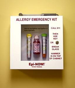 EpiNOW Allergy Emergency Kit - School Lunch Room Epinephrine Cabinet