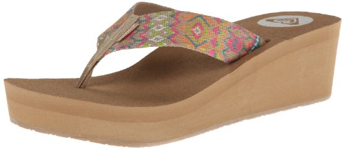Roxy Women's Monsoon Flip Flop,Pink/Pink,8 M US