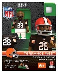 NFL Cleveland Browns NFL Generation 2 Series 1 Terrance West Minifigure - 1