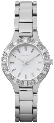 DKNY Glitz Mother-of-Pearl Dial Women's Watch #NY8485