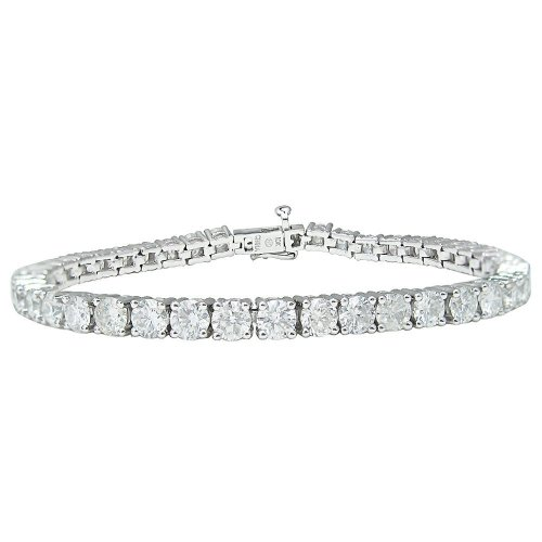 10k White Gold 4-Prong Diamond Tennis Bracelet (10 cttw, I-J Color, I1-I2 Clarity), 7.5