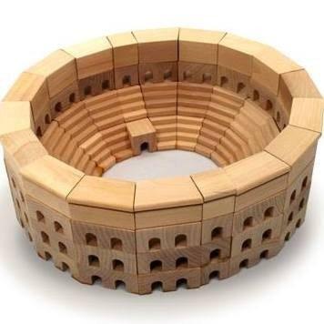 HABA Roman Coliseum Wooden Architectural Building Blocks - 110 Piece Set (Colosseum Model compare prices)