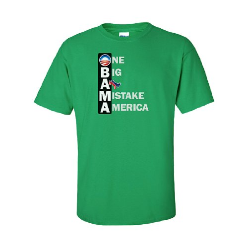 IamTee One Big A-- Mistake America T-Shirt-Green-M