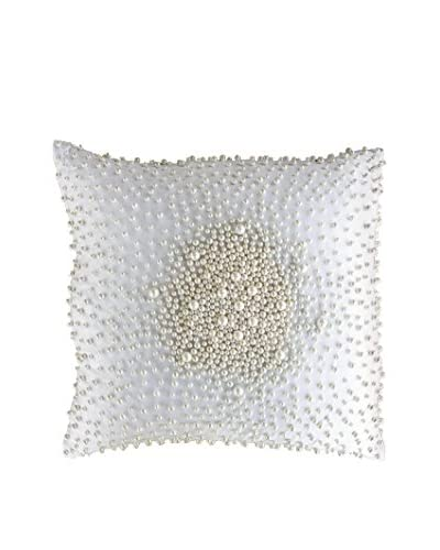 Bandhini Homewear Design Faux Pearl Cosmos Throw Pillow, White/Cream
