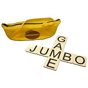 Jumbo Bananagrams Award Winning Word Game with Water Resistant Tile
