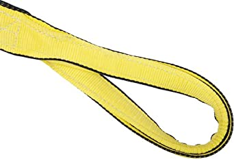 Mazzella EE4 Edgeguard Nylon Web Sling, Eye-and-Eye, Yellow, 4 Ply, Twist Eyes, Vertical Load Capacity