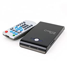 Micca Slim-HD 1080p Full-HD Portable Digital Media Player w/ 2.5-Inch HDD Drive Bay - Plays H.264/AVC, VC-1, MPEG1/2/4, DivX, Xvid, RMVB, MKV, AVI, MOV, MP3, MP4