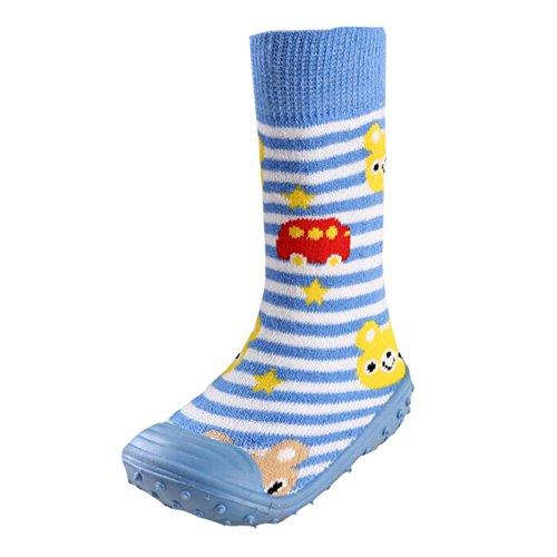 Leap Frog Floor Sock Slipper, Stivaletti bambini, blu (Blue Stripes), 38 2/3 EU