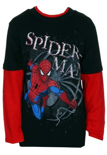 The Amazing Spider-Man Swinging Marvel Comics Superhero Youth Longsleeve T-Shirt