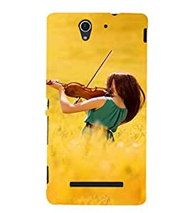 EPICCASE Girl with Voilin Mobile Back Case Cover For Sony Xperia C3 (Designer Case)